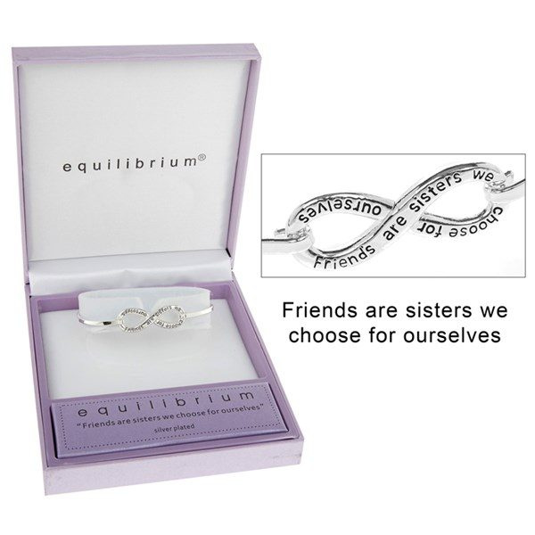 Equilibrium Friend Friendship Bracelet Bangle Infinity Symbol Gift